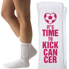 Time to Kick Cancer Breast Cancer Soccer Game