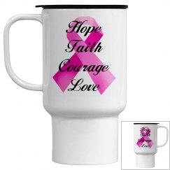 Pink Ribbon Faith Mug