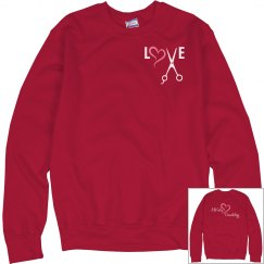 Love Sweat Shirt Red