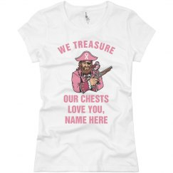 Breast Cancer Pirate Tee