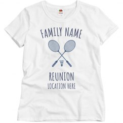 Add Name Reunion Badminton
