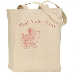 Vintage Pink Baby Carriage