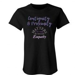 Women's Contiguity Breeds Empathy