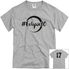 PLAIN Eclipse10 Short Sleeve Tee with silver outline