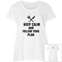 plus size - keep calm & follow your meal plan