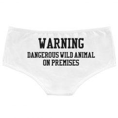 Dangerous Wild Animal Panties