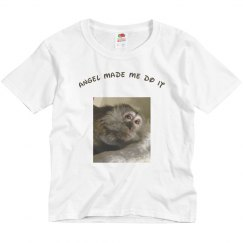Angel Made Me Do It childs shirt