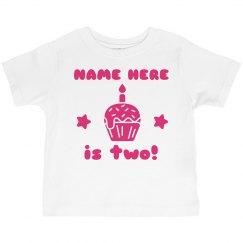 Pink Custom Birthday Shirt