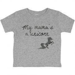 Unicorn mama toddler tee
