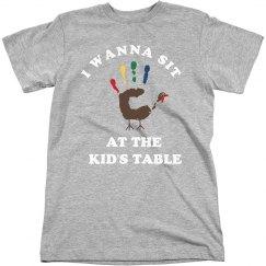 Sitting At Thanksgiving Kids Table