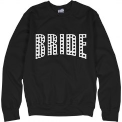 bride black sweatshirt