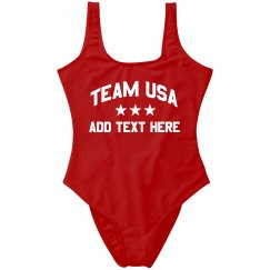 Team USA Party America Custom Text
