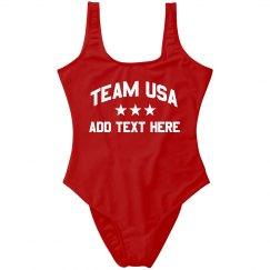 Team USA Party America Custom Text