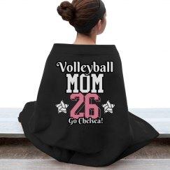 Custom Volleyball Mom Blanket