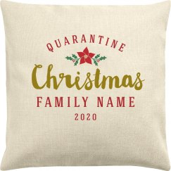 Family Christmas Quarantine Pillow