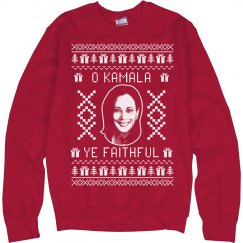 O Kamala Ye Faithful Christmas Sweater