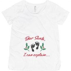 Santa I Can Explain Maternity Top