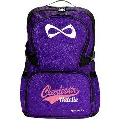 Cheerleader Logo Custom Nfinity Sparkle Cheer Backpack
