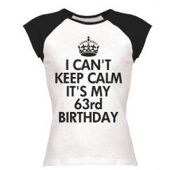 It's my 63rd birthday