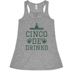 Cinco De Drinko Funny Drinking Shirt