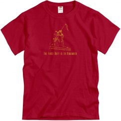 The First Duty is to Remember Military Veteran Shirt