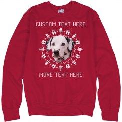 Custom Text Christmas Pet Sweater