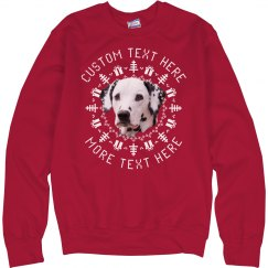 Custom Text Christmas Pet Sweater