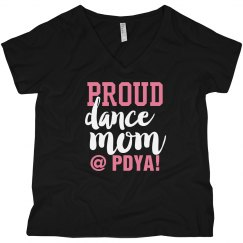 Proud Dance Mom in Black/ No Glitter