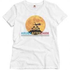 Aruba After Dark Excl By KAD   Womens Crew Neck Basic T