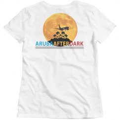 Aruba After Dark Excl By KAD | Womens CrewNk Bsc BKLogo