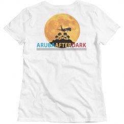 Aruba After Dark Excl By KAD   Womens CrewNk Bsc BKLogo