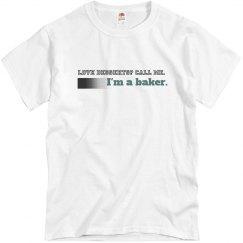 call me unisex baker top clear