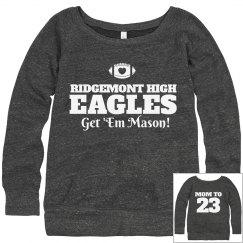 Custom Football Mom Fashion Sweater With Custom Text