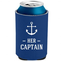 Her Captain Mermaid Beer Koozie