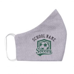 Custom School Soccer Team Mask