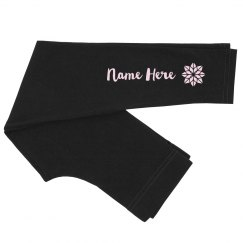 Custom Name Flower Leggings