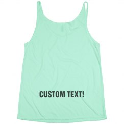 Custom Lower Back Writing Tanks