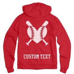 Softball Baseball Custom Hoodie