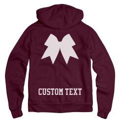 Custom Cheerleader Bow Hoodie