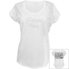 KORYNA RAY Rhinestone T-shirt