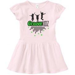 Groove Kidz  Pink Ruffle Dress