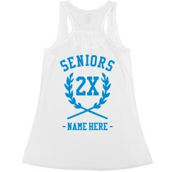 Metallic Seniors Custom Flowy Tank