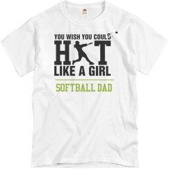 Hit Like A Girl Softball Dad