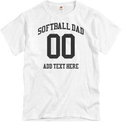 Custom Number Softball Dad