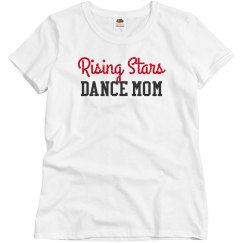 Rising Stars dance mom glitter