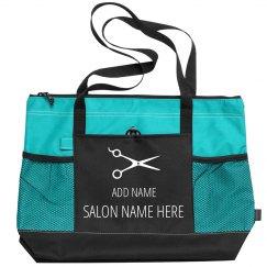 Custom Salon Design With Comb Art