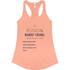 Fusion Barre Tank - Light Orange/Navy/Gray