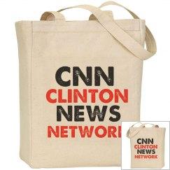 CNN Clinton News Network Tote bag