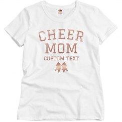 Custom Rose Gold Metallic Cheer Mom