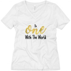 Ladies One With The World V-Neck